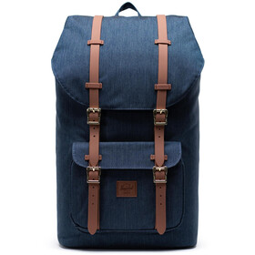Herschel Little America Selkäreppu, indigo denim crosshatch